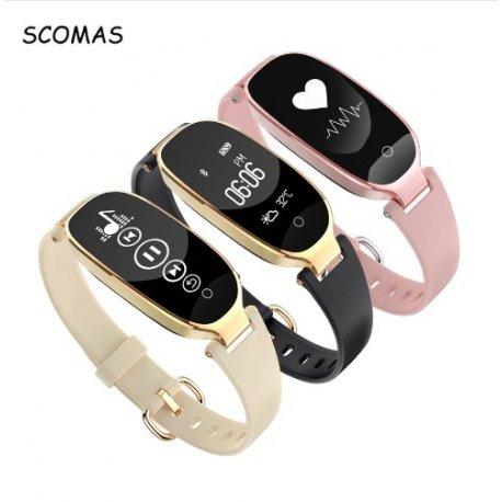 Nádherné dámské chytré hodinky SCOMAS S3 c8bc9daec7