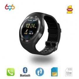 Chytré hodinky s telefónom Y1, SIM karta, monitor spánku, notifikácia, krokomer atď. / Poštovné ZADARMO!