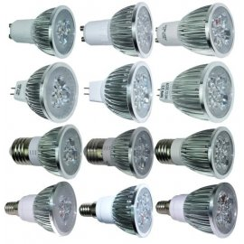 LED spotlight 220V GU10 MR16 E27 E14 LED 9W, aluminum