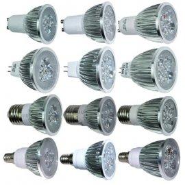 LED spotlight 220V GU10 MR16 E27 E14 LED 9W, aluminum