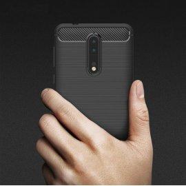 Pouzdro pro Nokia 8 2.1 3.1 5.1 6 2018 7Plus, TPU carbon fiber
