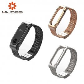 Metal strap for Xiaomi Mi Band 2 MiBand 2, stainless steel