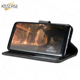 Kisscase Pouzdro pro Samsung Galaxy S9 S8 Plus S8, magnet, peněženka, stojánek, flip, PU kůže