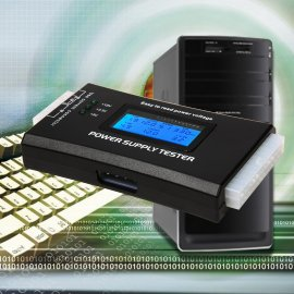 Tester PC zdrojů zkoušečka 20/24-pin, LCD Power Supply Tester