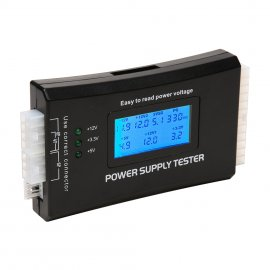 Tester PC zdrojů zkoušečka 20/24-pin, LCD Power Supply Tester