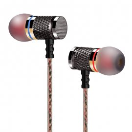 QKZ DM6 Professional In-Ear Headphones, Microphone, Control, 3.5mm Stereo Jack, Universal