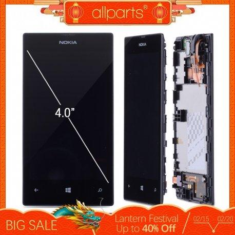 LCD obrazovka displej pro NOKIA lumia 520 + dotyková vrstva digitizer + rámeček