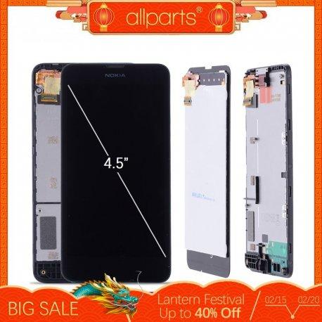 LCD obrazovka displej pro NOKIA Lumia 630 NOKIA Lumia 635 + dotyková vrstva digitizer + rámeček