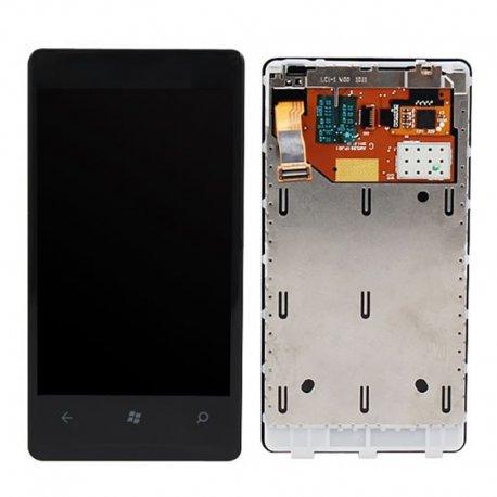 LCD obrazovka pro Nokia Lumia 800 LCD + dotyková vrstva digitizer + rámeček