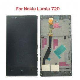 LCD obrazovka pro Nokia Lumia 720 LCD + dotyková vrstva digitizer + rámeček