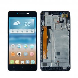LCD screen for Lenovo A6000 LCD + touch layer digitizer + frame
