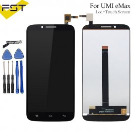 LCD screen for UMI eMAX LCD + touch layer digitizer + frame