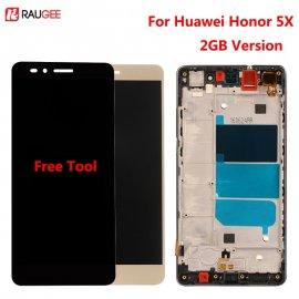 LCD obrazovka pro Huawei Honor 5x KIW-AL10 KIW-L21 KIW-L22 KIW-TL00 TL00H CL00 UL00 LCD + dotyková vrstva digitizer + rámeček