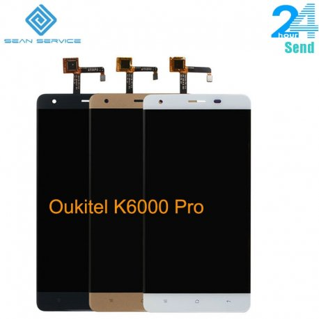 LCD obrazovka pro Oukitel K6000 Pro LCD + dotyková vrstva digitizer + rámeček, original