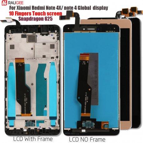 LCD obrazovka pro Xiaomi Redmi Note 4X/4 Global Redmi Note 4 Snapdragon 625 Octa Core + dotyková vrstva digitizer + nástroje