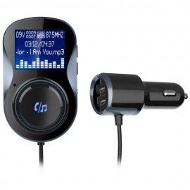 MP3 přehrávač do auta + nabíječka, BT FM Transmitter, Handsfree, FM, LCD, MicroSD, USB, BT 4.1 + EDR