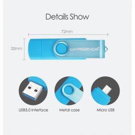 OTG FlashDisk USB 3.0 / Micro USB / 16GB 32GB 64GB OTG Flash disk /Poštovné ZDARMA