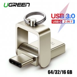 Flash Disk Ugreen USB 3.0 / USB C OTG / 16GB 32GB 64GB pre Samsung Galaxy S9 Plus Note 9 For Xiaomi Redmi5 atď.