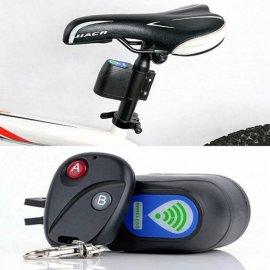 Alarm na bicykel s diaľkovým ovládaním, 110dB, detekcia pohybu