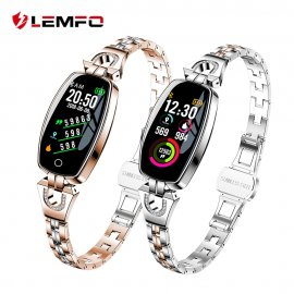 Beautiful ladies smart watch LEMFO H8, IP67, fitness, heart rate, sleep monitor, notification, pedometer, BT for Android and iOS