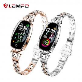 Nádherné dámske chytré hodinky LEMFO H8, IP67, fitness, srdcový tep, monitor spánku, notifikácia, krokomer, BT pre Android a iOS