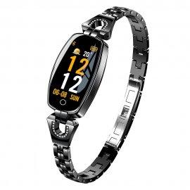 Nádherné dámské chytré hodinky LEMFO H8, fitness, srdeční tep, monitor spánku, notifikace, krokoměr, BT