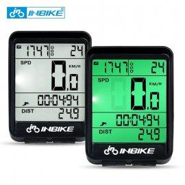 Bezdrôtový cyklopočítač INBIKE, tachometer, vodeodolný, LCD, podsvietenie