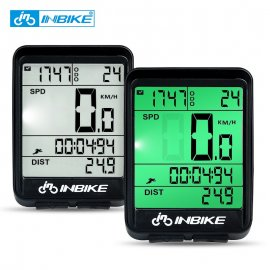 Wireless cycling computer INBIKE, tachometer, waterproof, LCD, backlight