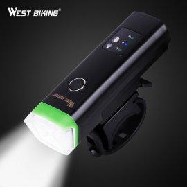 Kvalitný svetlo na bicykel WEST BIKING, Inteligentné zapínanie, USB nabíjanie, 4 módmi