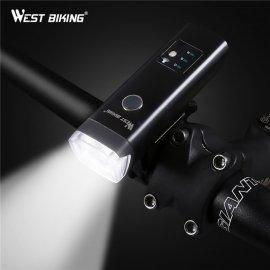 Kvalitní světlo na kolo WEST BIKING, Inteligentní zapínání, USB nabíjení, 4 mody