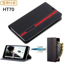 Pouzdro pro Homtom HT70, flip, stojánek, peněženka