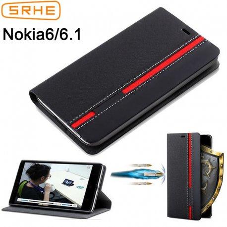 Pouzdro pro Nokia 6.1 Nokia 6 2018 TA-1068 TA-1050 TA-1043 TA-1045, flip, stojánek, peněženka