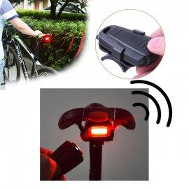 4v1 Alarm na bicykel, zvonček, svetlo, vodeodolný, detekcia pohybu, diaľkový ovládač, USB nabíjanie