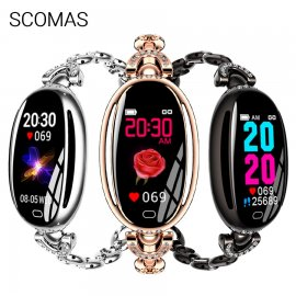 Beautiful women's smart watch SCOMAS SE68, IPS display, IP67, fitness, heart rate, sleep monitor, notification, pedometer etc.