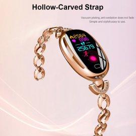Nádherné dámské chytré hodinky SCOMAS SE68, IPS displej, IP67, fitness, srdeční tep, monitor spánku, notifikace, krokoměr atd.