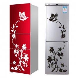 Dekorační nálepka na lednici nebo na zeď, květina a motýl