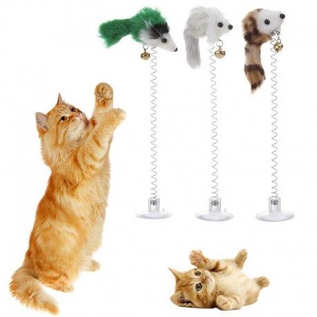 3 x Hračka pro kočky s rolničkou (3ks náhodné barvy)