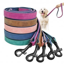Quality leather leash for dogs 120cm