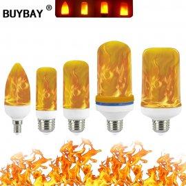 LED ohnivá žiarovka, efekt plameňa 3W 5W 7W 9W E27 E14 Flame Bulb 85-265V