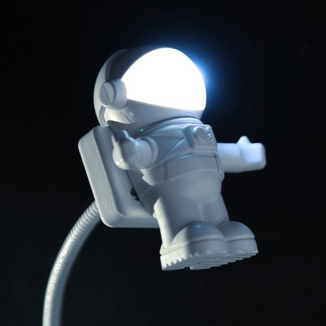LED čtecí lampička kosmonaut USB, 28LED, ohebná, k notebooku, pc,