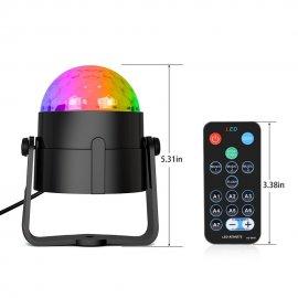 Disco koule disco laserový rotační projektor 3W RGB LED EU /poštovné ZDARMA!