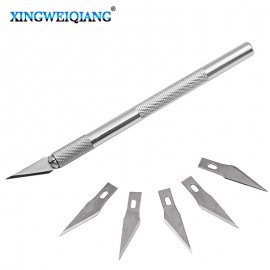 Scalpel with non-slip grip + 5pcs blade
