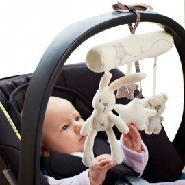 Amazing soft toy with baby tunes to hang on a stroller, car seat, etc.