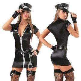 Kostým sexy policistka s pouty / policajtka, sexy policejní uniforma /Poštovné zdarma!