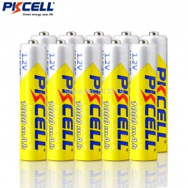10x AAA Rechargeable Battery 1.2V 1.2v NIMH 1000mAh (10pcs packaged)
