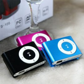 Mini MP3 player for super price, MicroSD, FM, clip for hanging