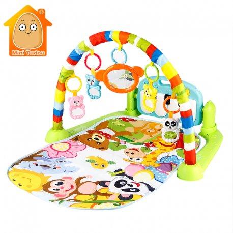 Nádherná hudební hrací podložka s hrazdičkou a piánem, LED posvícení kláves, mnoho melodií /Poštovné ZDARMA!