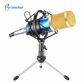 Recording microphone BM800 with adjustable stand and shock mount for PC YOUTUBE KARAOKE, 3.5mm