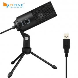 High quality recording microphone for YOUTUBER Fifine with adjustable stand and VOLUME for PC KARAOKE, USB