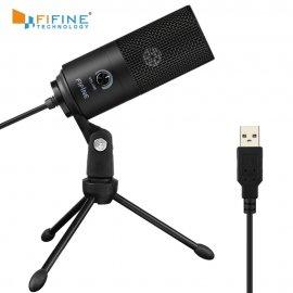 Kvalitní nahrávací mikrofon pro YOUTUBERY Fifine s polohovatelným stojánkem a VOLUME pro PC KARAOKE, USB /poštovné ZDARMA!